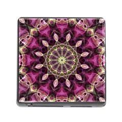 Purple Flower Memory Card Reader with Storage (Square)