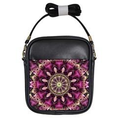 Purple Flower Girl s Sling Bag