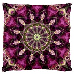 Purple Flower Large Cushion Case (two Sided)