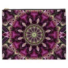 Purple Flower Cosmetic Bag (XXXL)