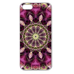 Purple Flower Apple Seamless Iphone 5 Case (clear)