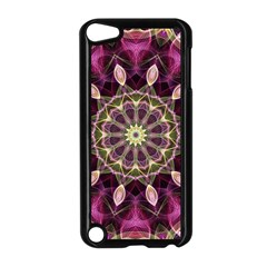 Purple Flower Apple Ipod Touch 5 Case (black)