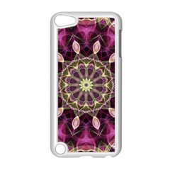 Purple Flower Apple iPod Touch 5 Case (White)