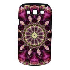 Purple Flower Samsung Galaxy S III Classic Hardshell Case (PC+Silicone)