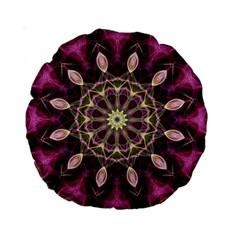 Purple Flower 15  Premium Round Cushion