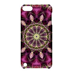 Purple Flower Apple iPod Touch 5 Hardshell Case with Stand