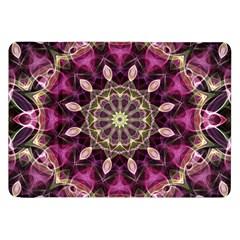 Purple Flower Samsung Galaxy Tab 8 9  P7300 Flip Case