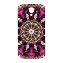 Purple Flower Samsung Galaxy S4 I9500/I9505  Hardshell Back Case