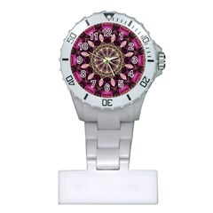 Purple Flower Nurses Watch
