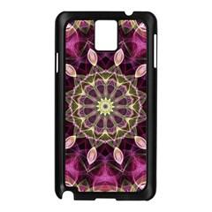 Purple Flower Samsung Galaxy Note 3 N9005 Case (black)