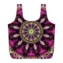 Purple Flower Reusable Bag (l)