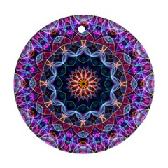 Purple Lotus Round Ornament