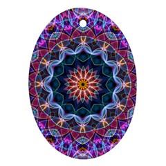 Purple Lotus Oval Ornament