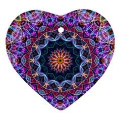 Purple Lotus Heart Ornament