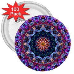 Purple Lotus 3  Button (100 pack)