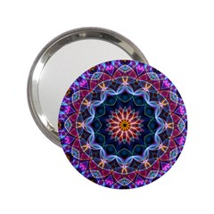 Purple Lotus Handbag Mirror (2.25 )