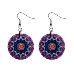 Purple Lotus Mini Button Earrings