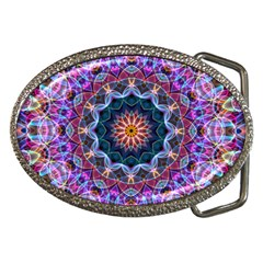 Purple Lotus Belt Buckle (Oval)