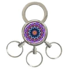 Purple Lotus 3-Ring Key Chain