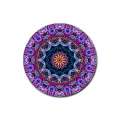 Purple Lotus Drink Coaster (round)