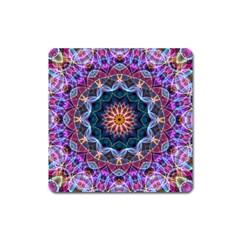 Purple Lotus Magnet (square)