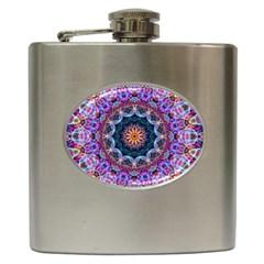 Purple Lotus Hip Flask