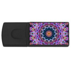 Purple Lotus 2GB USB Flash Drive (Rectangle)