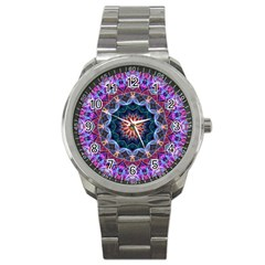 Purple Lotus Sport Metal Watch