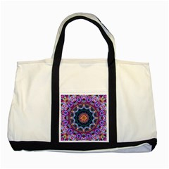 Purple Lotus Two Toned Tote Bag
