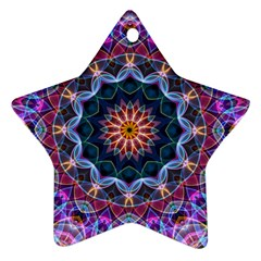Purple Lotus Star Ornament (Two Sides)