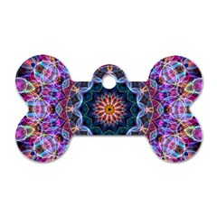 Purple Lotus Dog Tag Bone (Two Sided)