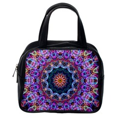 Purple Lotus Classic Handbag (One Side)