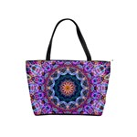 Purple Lotus Large Shoulder Bag Front