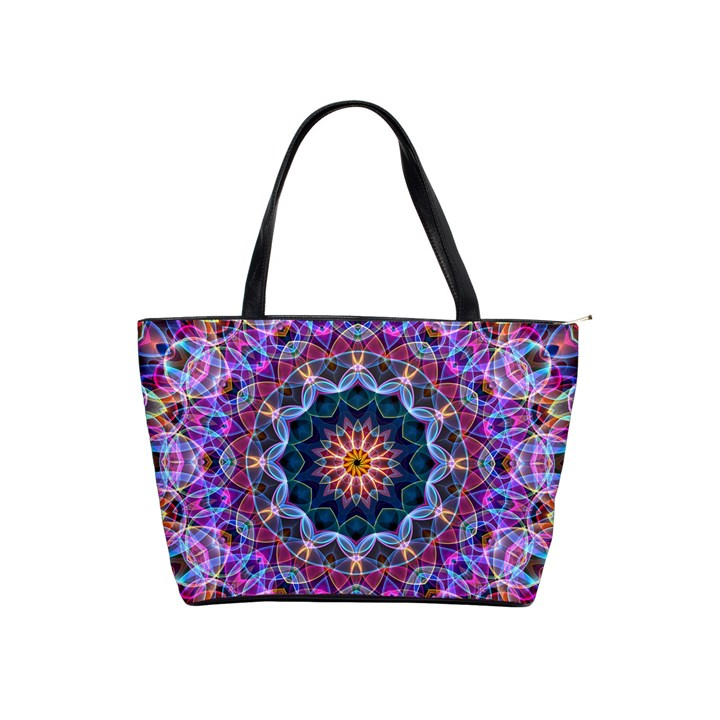 Purple Lotus Large Shoulder Bag