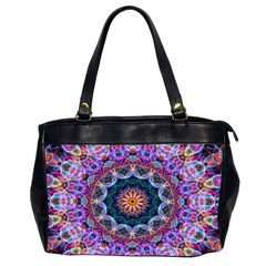 Purple Lotus Oversize Office Handbag (two Sides)