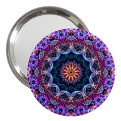 Purple Lotus 3  Handbag Mirror