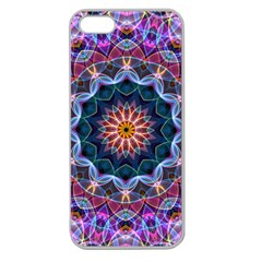 Purple Lotus Apple Seamless Iphone 5 Case (clear)