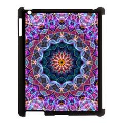 Purple Lotus Apple iPad 3/4 Case (Black)