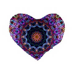 Purple Lotus 16  Premium Heart Shape Cushion