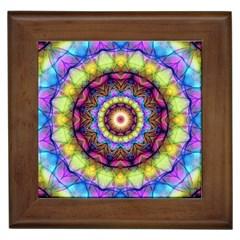 Rainbow Glass Framed Ceramic Tile