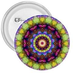 Rainbow Glass 3  Button