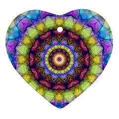 Rainbow Glass Heart Ornament