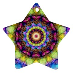 Rainbow Glass Star Ornament