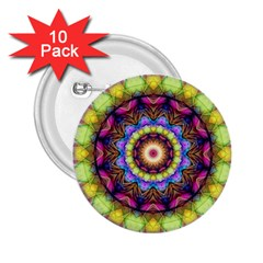 Rainbow Glass 2.25  Button (10 pack)