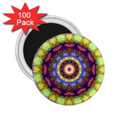 Rainbow Glass 2 25  Button Magnet (100 Pack)