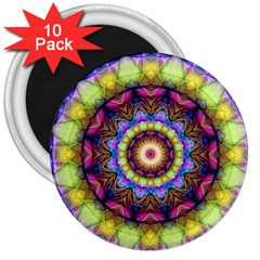 Rainbow Glass 3  Button Magnet (10 pack)