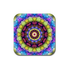 Rainbow Glass Drink Coasters 4 Pack (square)