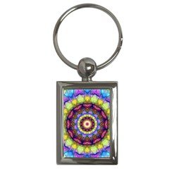 Rainbow Glass Key Chain (Rectangle)
