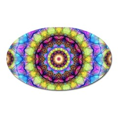 Rainbow Glass Magnet (Oval)
