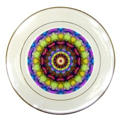 Rainbow Glass Porcelain Display Plate